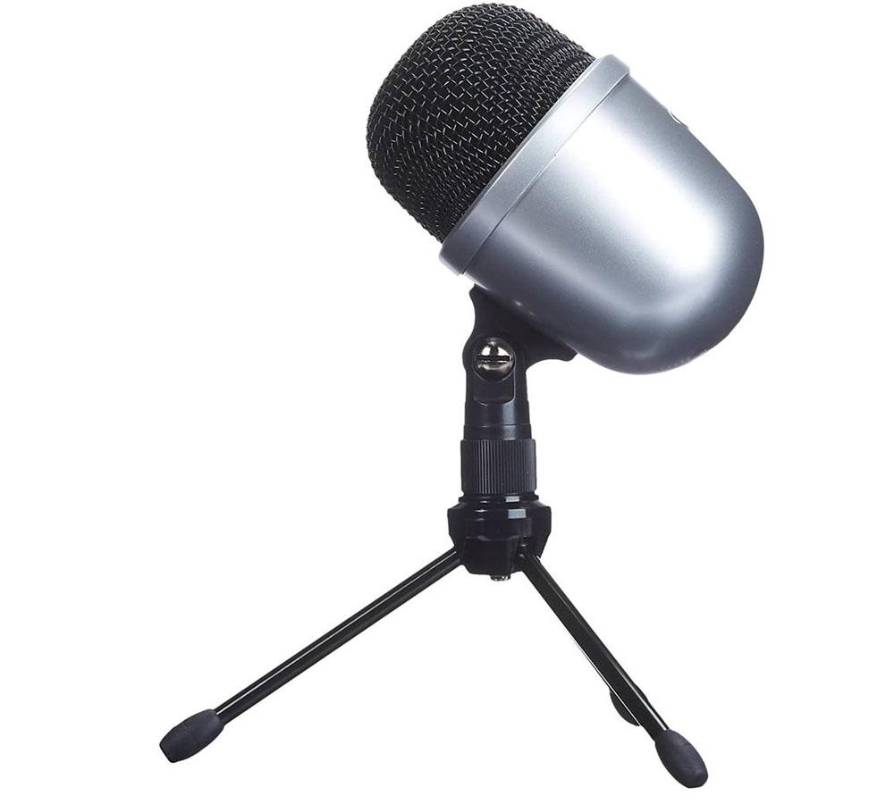 Micrófono para cantar AmazonBasics Mini Plata