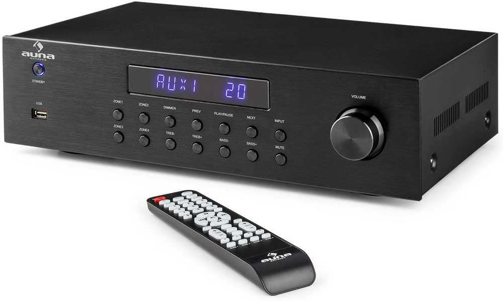 Amplificador de sonido Auna AV2-CD850BT