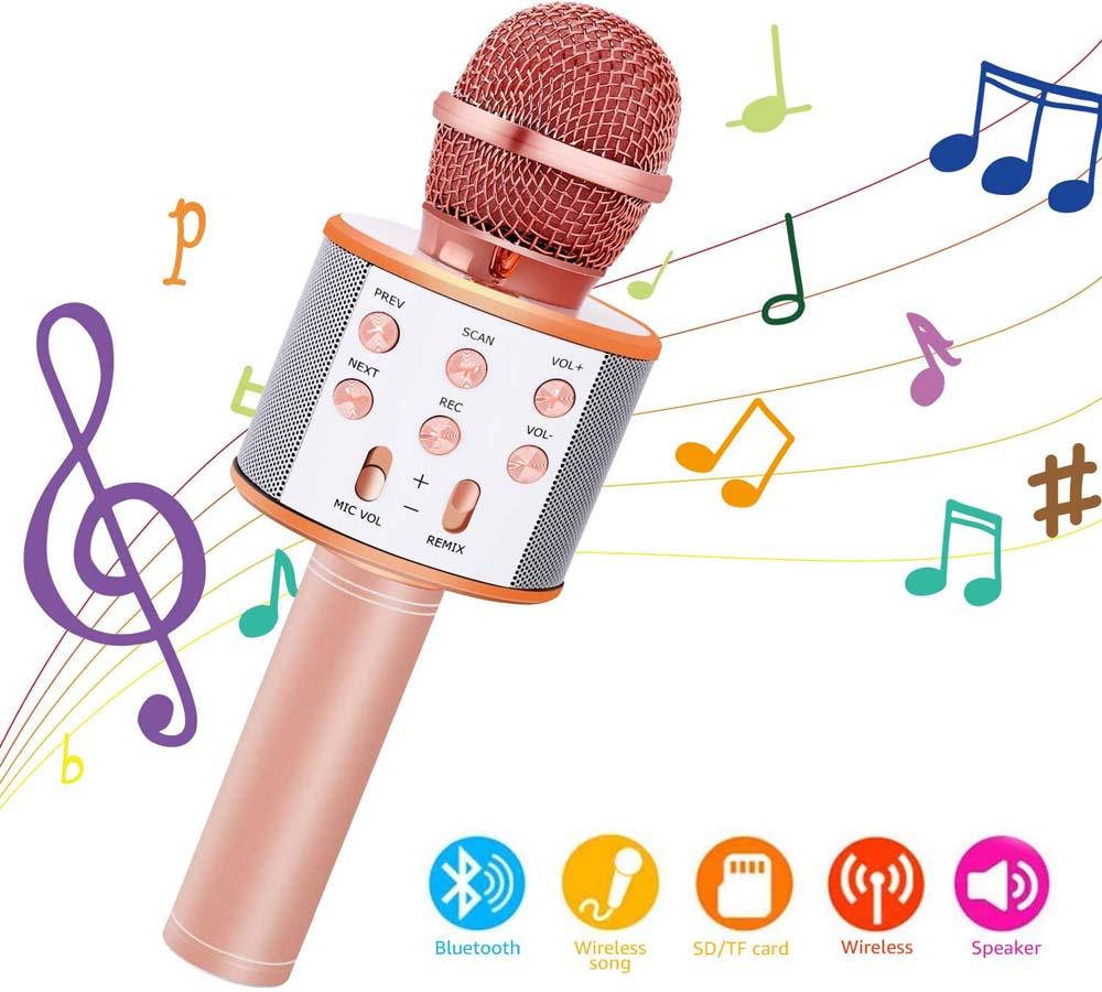 Micrófono con Bluetooth Bearbro Oro Rosa