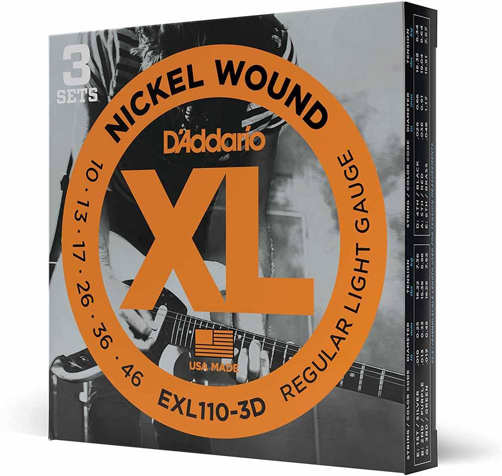 Cuerdas de guitarra D'Addario EXL110-3D