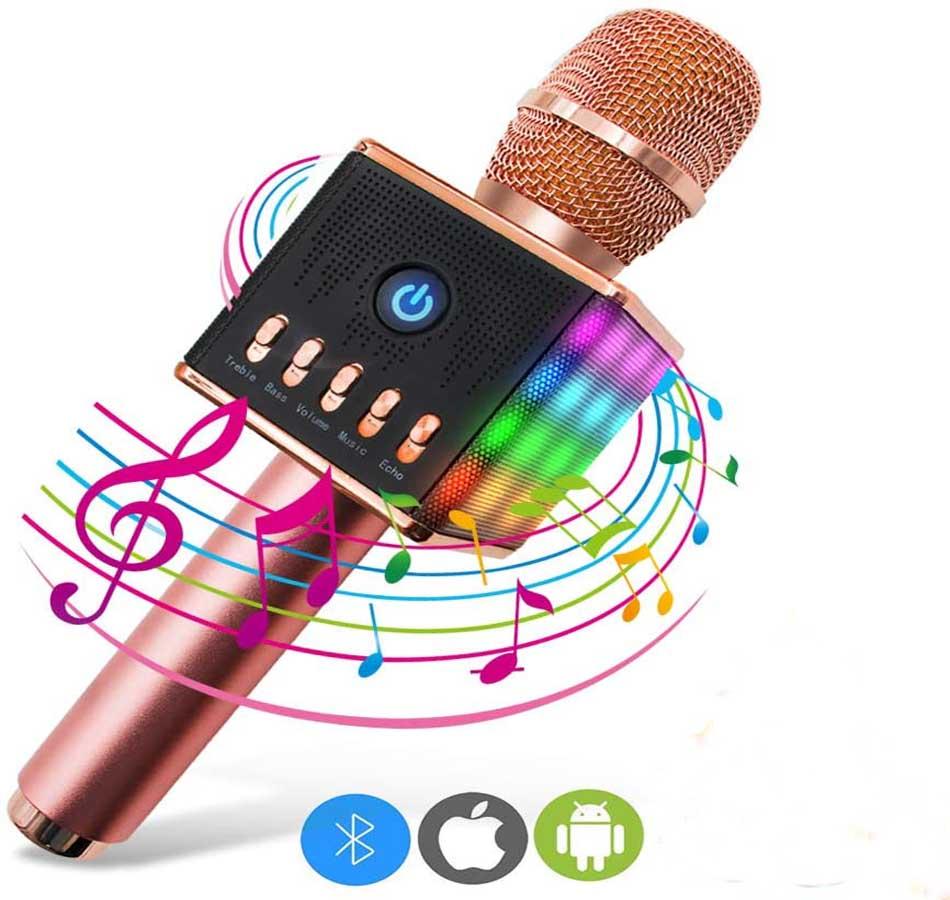 Micrófono para karaoke ERAY Rosa