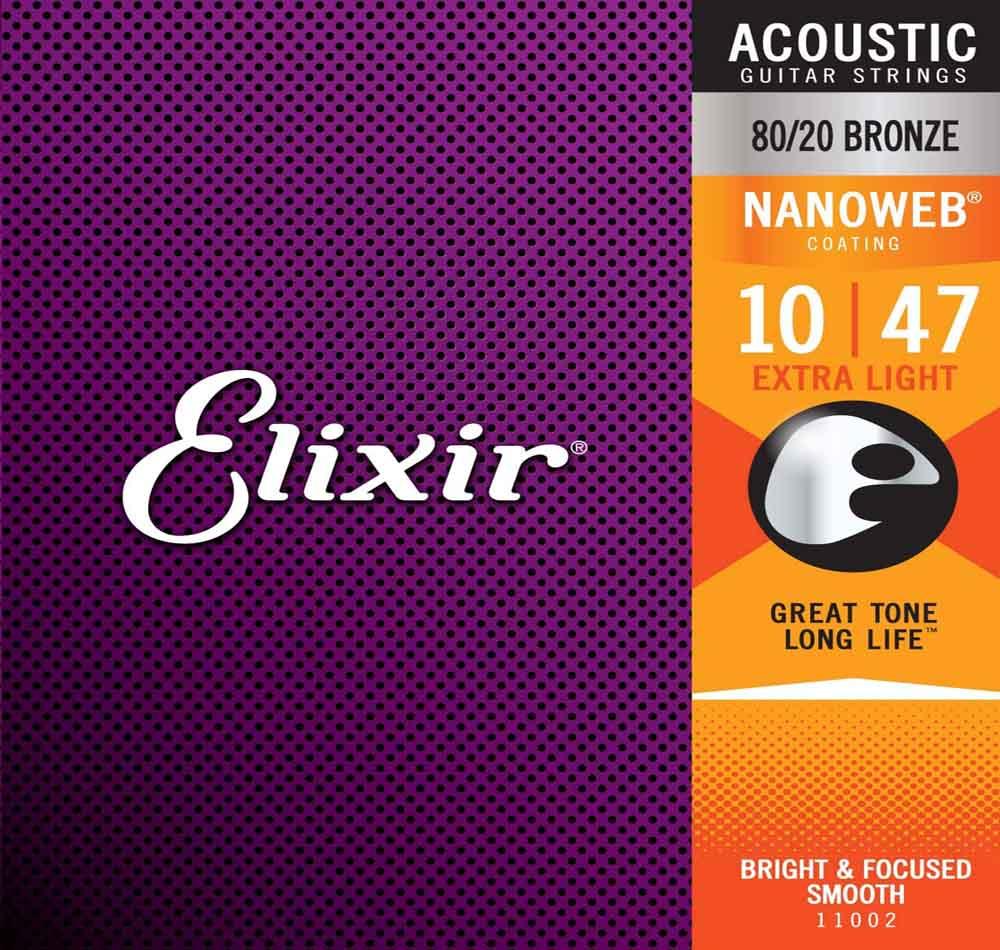 Cuerdas de guitarra Elixir 11002