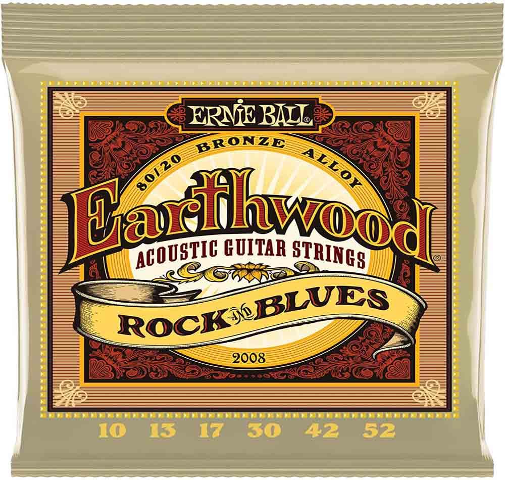 Cuerdas de guitarra Ernie Ball Earthwood Rock y Blues