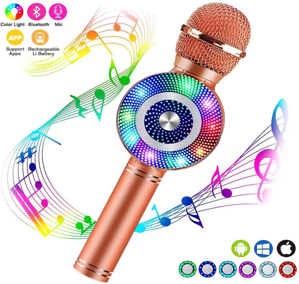 Micrófono para cantar FISHOAKY