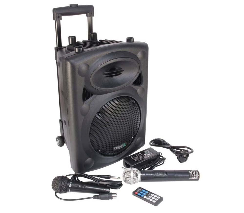 Altavoces para karaoke Ibiza Sound PORT8VHF-BT