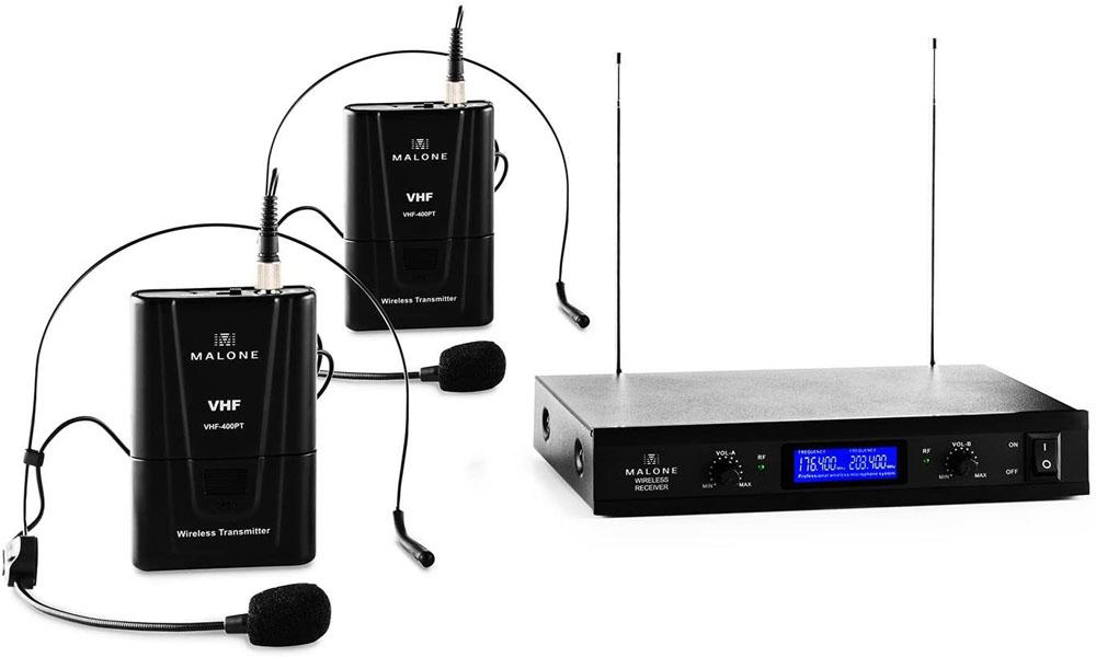 Micrófono de diadema Malone VHF-400 Duo