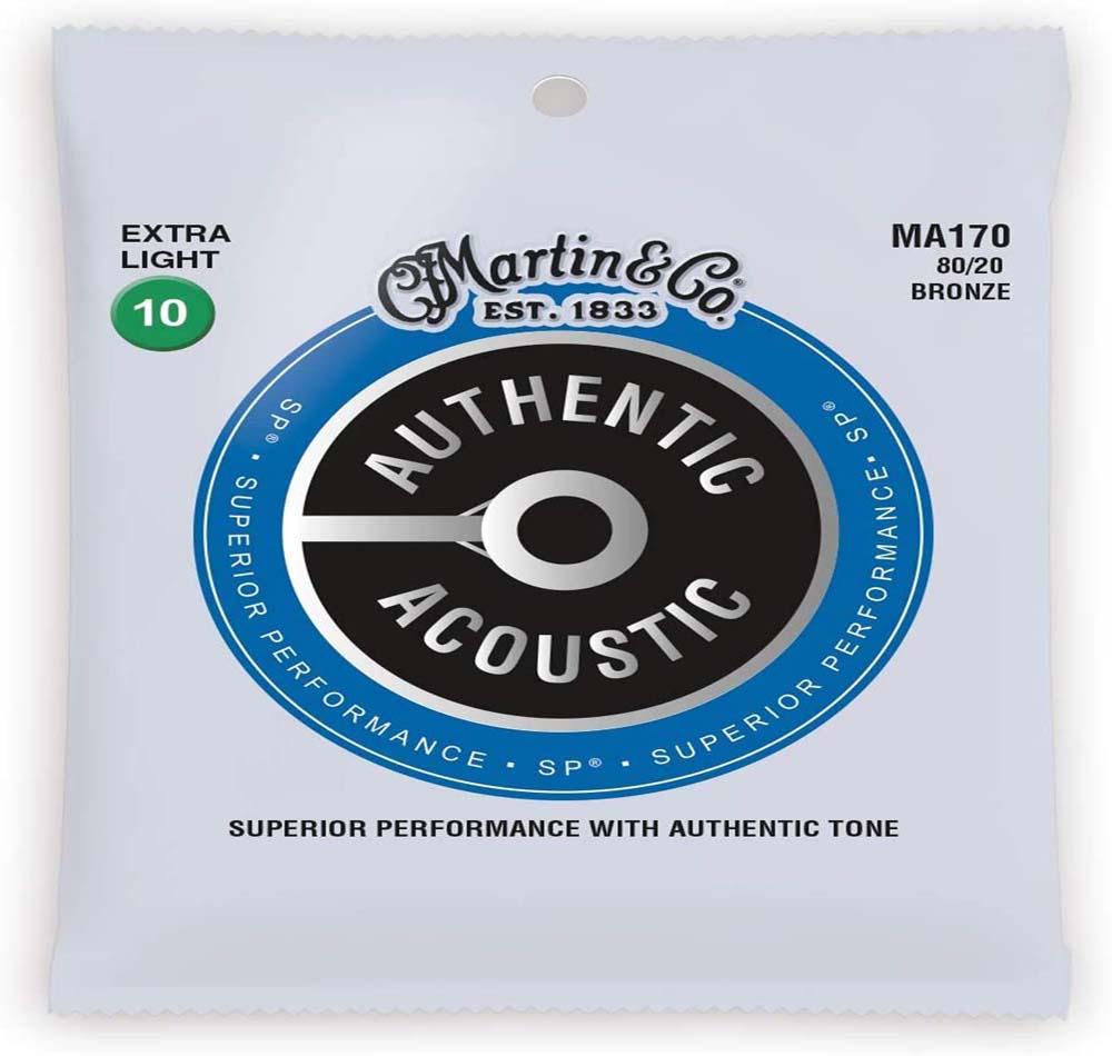 Cuerdas de guitarra Martin Acústica Auténtica – SP – 80/20