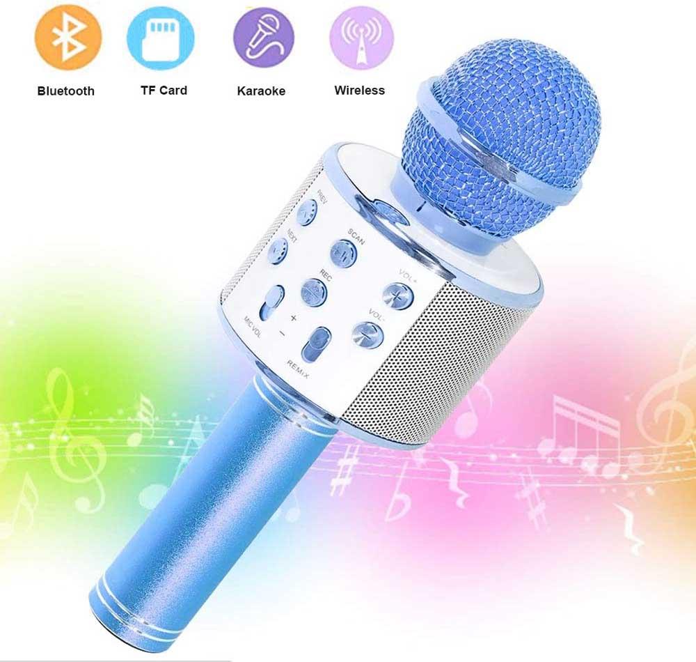 Micrófono para karaoke SaponinTree Azul