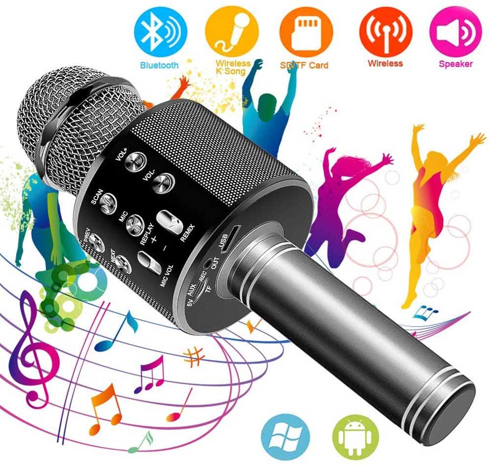 Micrófono con Bluetooth Suntop Negro