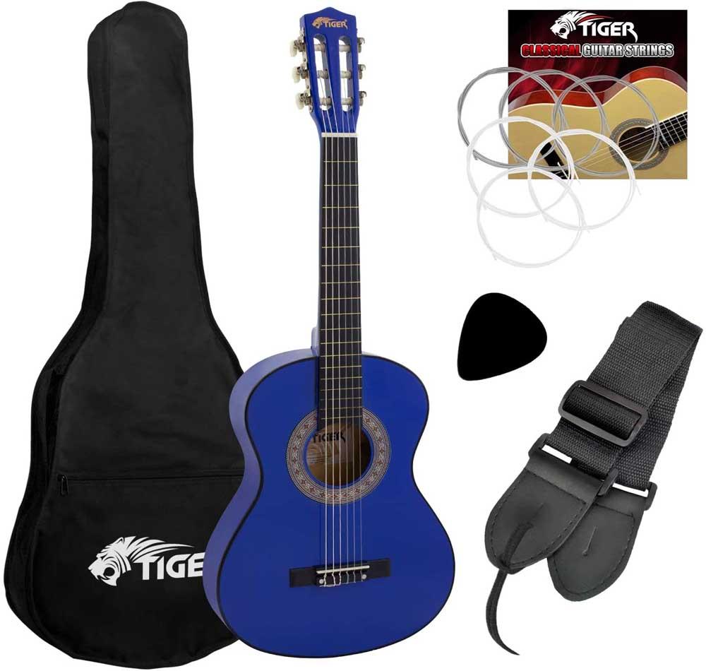 Guitarra para niños Tiger CLG4-BL