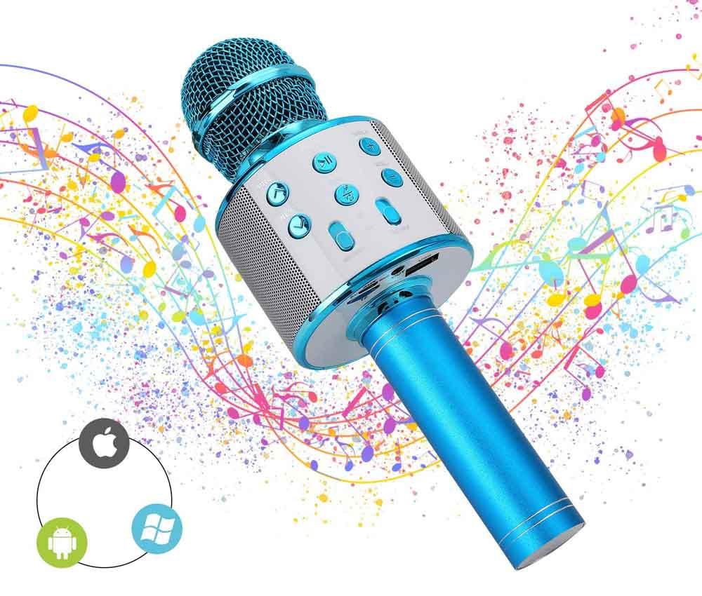 Micrófono para karaoke Ulikey Azul