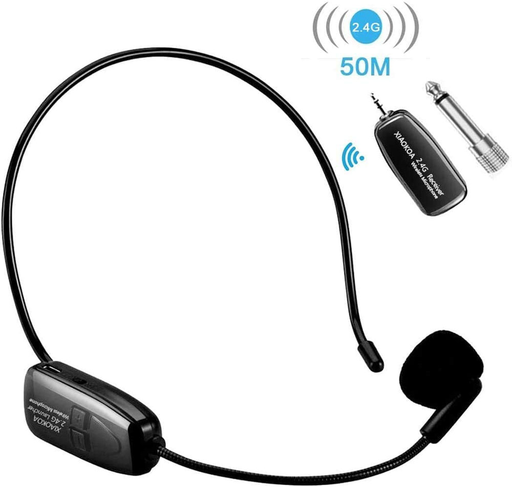 Micrófono de diadema XIAOKOA 2.4G